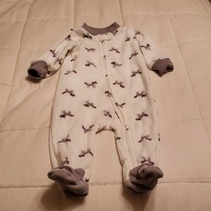 Carter's Raccoon Layette Size 6M.